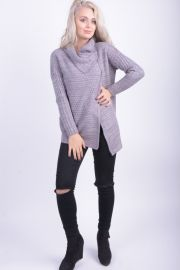Cardigan Gros Vascoza Sublevel Sonia Middle Grey