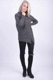 Cardigan Gros Vascoza Sublevel Sonia Dark Grey