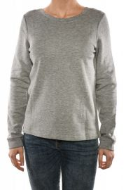Bluza Bumbac Noisy May Veronika Light Grey Melange