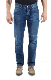 BLUGI USOR CONICI -JONAS- SUPERJEANS OF SWEDEN - SUPERBLUE WASH
