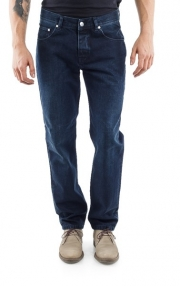 BLUGI USOR CONICI - JONAS - SUPERJEANS OF SWEDEN - DARK WASH