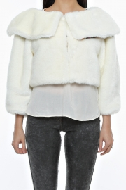 Jacheta Half Of Me Faux Fur White