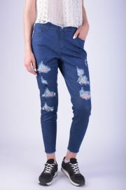 Blugi Dama Pieces Pcjust Tilda R.m.w Cropped Medium Blue Denim