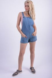 Salopeta Blugi Scurta First And I Fifome Denim Albastru