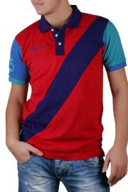 Tricou Barbati Selected Measure Polo Rosu / Mov