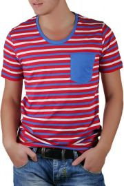 Tricou Barbati Selected New Finley Deep O-Neck Rosu