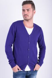 Cardigan Barbati Selected Roma Grandad Deep Lilac
