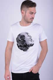 Tricou Bumbac Jack&Jones Originals Death Star Alb
