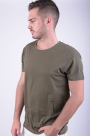 Tricou Bumbac Selected Pima New Dave Deep O-neck Kaki