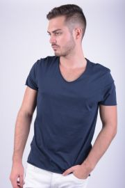 Tricou Bumbac Selected Merce O-neck Bleumarin