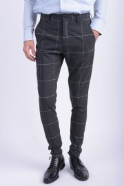 Pantaloni Selected Subzero Tadalex Grey Check