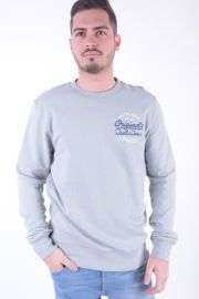 Bluza Jack&Jones Angles Crew Neck Gri Deschis
