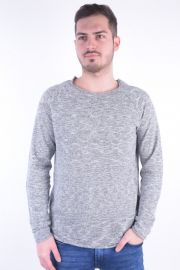 Pulover Selected Clash Linen Crew Neck Twisted Gri
