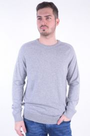 Pulover Selected Shdblade Silk Crew Neck Grey Melange
