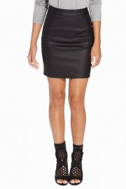 Fusta Vila Vicoma Coated Skirt Negru