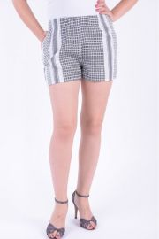 Pantaloni Scurti Vila Viparts Shorts Snow White / Black