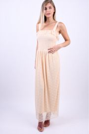 Rochie Eleganta Vero Moda Arora Maxi Mother Of Pearl