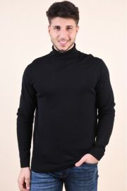 Pulover Pe Gat Selected Tower Silk Roll Neck Negru