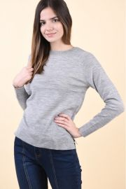 Pulover Selected Costa Knit Light Grey Melange