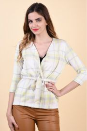 Sacou Sister Point Caddy-6 Yellow/Check
