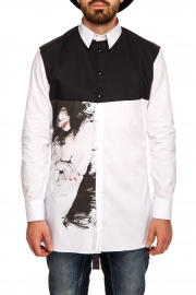 Camasa Black & White Printed Shirt Half Of Me