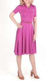 Rochie polo din bumbac Fucsia Rules
