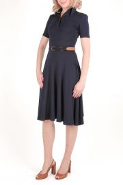 Rochie polo din bumbac Navy Blue