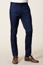 Pantaloni Selected Casual Slim Fit Navy